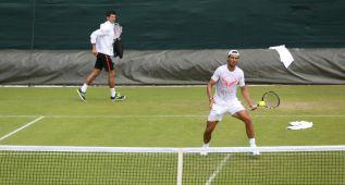 Nadal juega en 'The Boodles' con el holandés Robin Haase