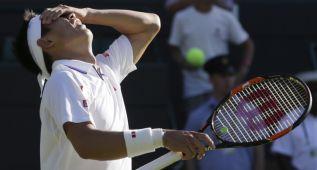 Nishikori se retira lesionado y Wawrinka sigue adelante
