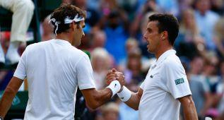 Roberto Bautista dice adiós ante un impecable Federer