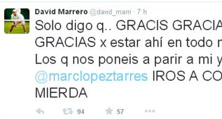 """Marrero manda a los críticos en Twitter """"a comer mierda"""""""