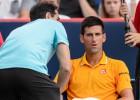 """Djokovic, """"mareado"""" por el olor a porro durante la semifinal"""