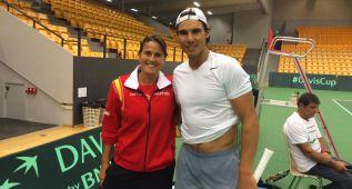 La España de Nadal y Ferrer probó ya la pista de Odense