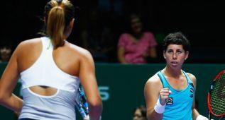 Muguruza y Carla Suárez, derrota en su debut en dobles