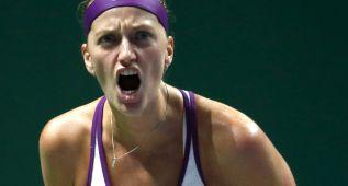 Petra Kvitova apea a Lucie Safarova de la Masters Cup