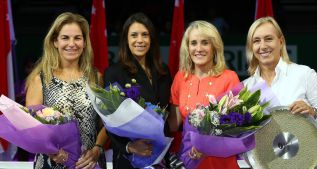 Arantxa Sánchez Vicario reina en el torneo de leyendas