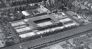 En 1904, barrida británica en la vieja pista de Wimbledon