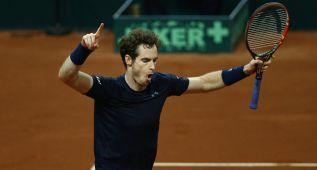 Andy Murray se hace valer e iguala a uno la final de la Davis