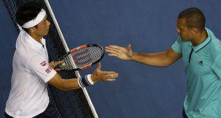 El japonés Nishikori se clasifica para cuartos a costa de Tsonga