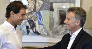 Nadal visita a Macri en la Casa Rosada antes de su debut