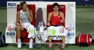 Sin Serena, Muguruza y Suárez evitan en el cuadro a Azarenka