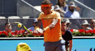 Rafa Nadal, control y 11-0 con el cordaje antiguo