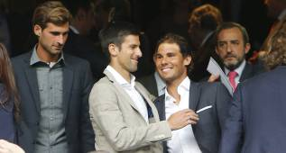 Rafa Nadal, Djokovic y Garbiñe asistieron al Bernabéu