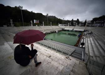La lluvia impide jugar en Roma
