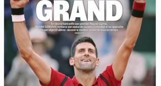 La prensa se rinde a Djokovic con su primer Roland Garros