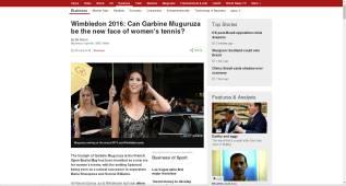 """La BBC y Muguruza: """"¿Puede ser el nuevo rostro de la WTA?"""""""
