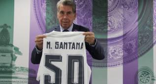 Santana, con la camiseta del Madrid 50 años después