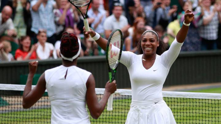 Doblete de Serena y sexto Wimbledon para las Williams