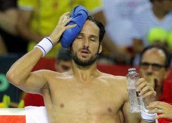 Feliciano López, vendado tras sacar 229 veces ante Copil