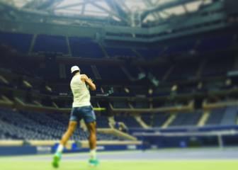 Rafa Nadal prepara el US Open en la pista Arthur Ashe