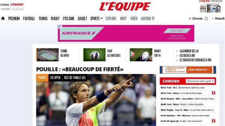La prensa francesa se rinde a Pouille tras vencer a Nadal