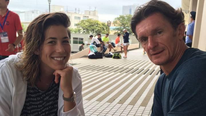 Garbiñe Muguruza cumple un año con Sam Sumyk de técnico