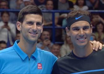 Djokovic y Nadal se exhiben en Milán en un partido benéfico