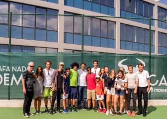 Nadal, junto a Federer en la inauguración de su Academia