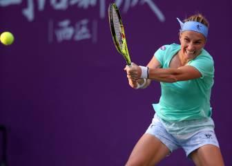 Kuznetsova, a una victoria de quitarle la plaza a Konta