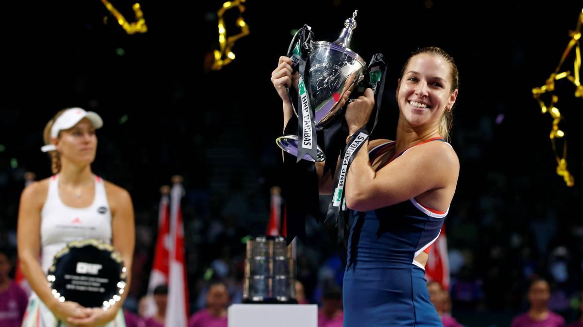Cibulkova fusila a Kerber y es la nueva Maestra del tenis
