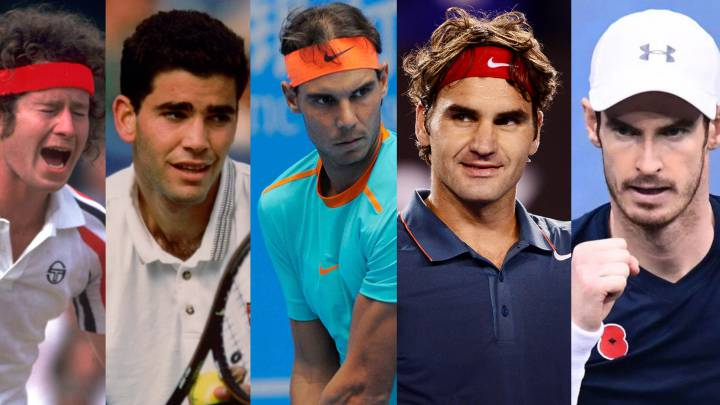 De Nastase a Murray: los 26 nº1 de la era ATP en números