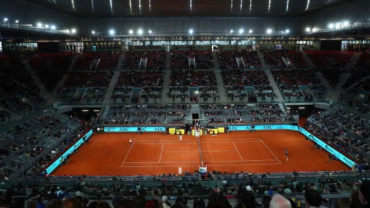 Vista general de la pista central de la Caja Mágica, sede del Masters 1000 Mutua Madrid Open.