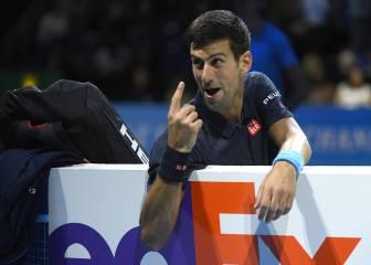 Djokovic arrasa al suplente Goffin y va invicto a semifinales