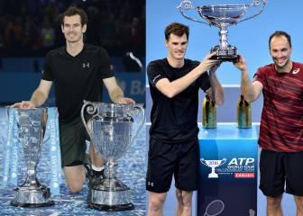 Los Murray, primeros hermanos nº1 en individuales y dobles