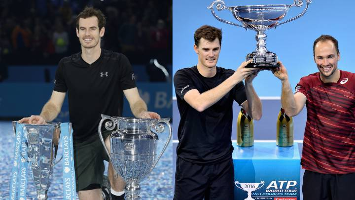 Los Murray, primeros hermanos nº1 en individuales y dobles