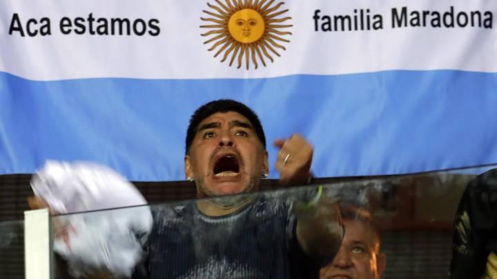 Maradona, el fan número 1 de la Argentina campeona