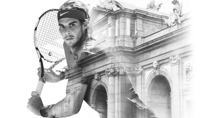 Rafa Nadal será protagonista en los carteles promocionales del Mutua Madrid Open junto a conocidos monumentos de la ciudad madrileña.