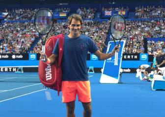 Locura por Federer: ¡6.000 personas! en su entrenamiento