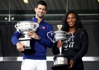Djokovic y Serena lideran las apuestas del Open de Australia