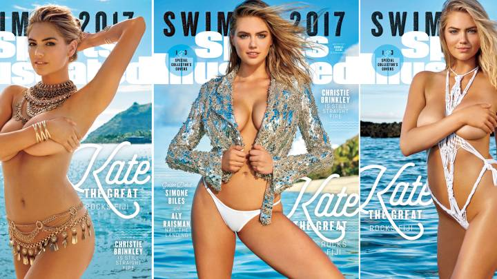 Serena, Bouchard y Wozniacki, con Kate Upton en el especial bañadores de Sports Illustrated