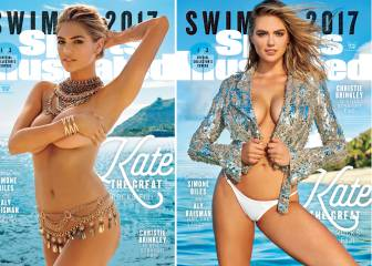 Serena, Bouchard y Wozniacki, con Kate Upton en el especial de Sports Illustrated
