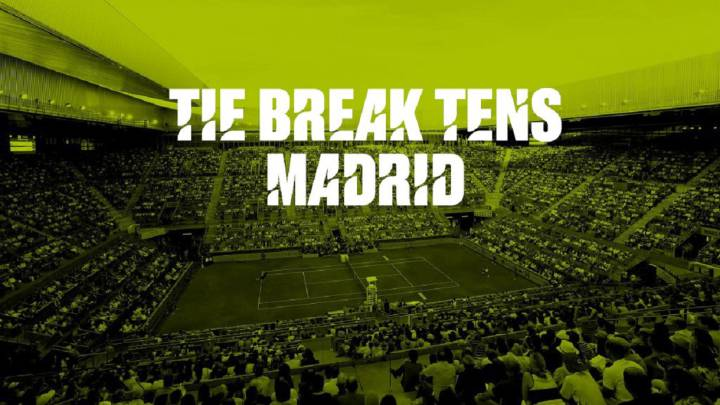 Cartel promocional del Tie Break Tens de Madrid.