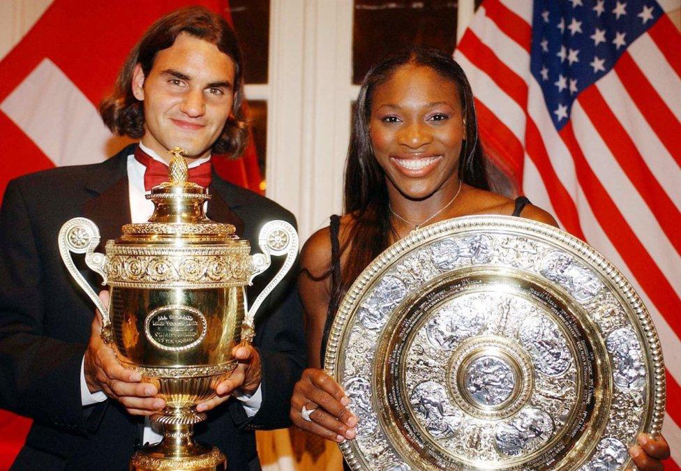 Roger Federer. WIMBLEDON 2003. Ganó a Mark Philippoussis por 7-6, 6-2 y 7-6.