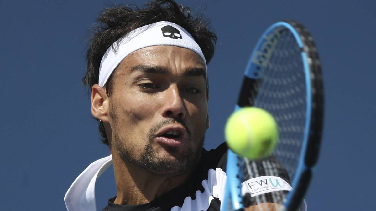 Fabio Fogini fue expulsado del US Open por insultar a una jueza