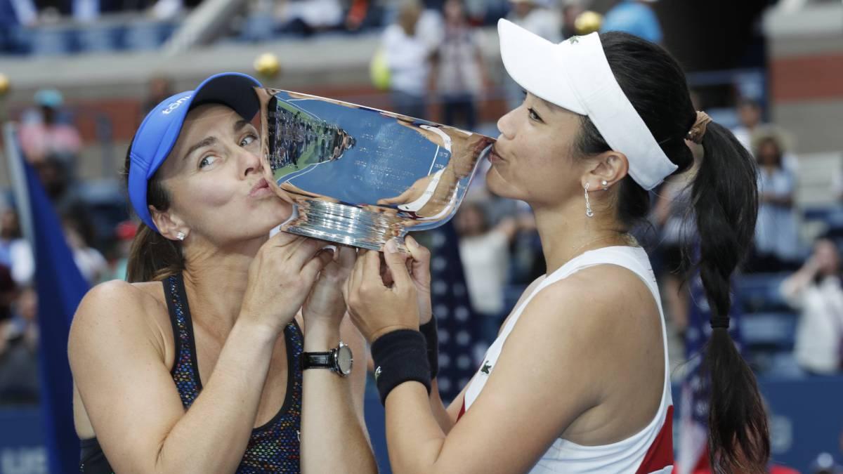 Hingis y Murray se alzan con dobles mixtos del US Open