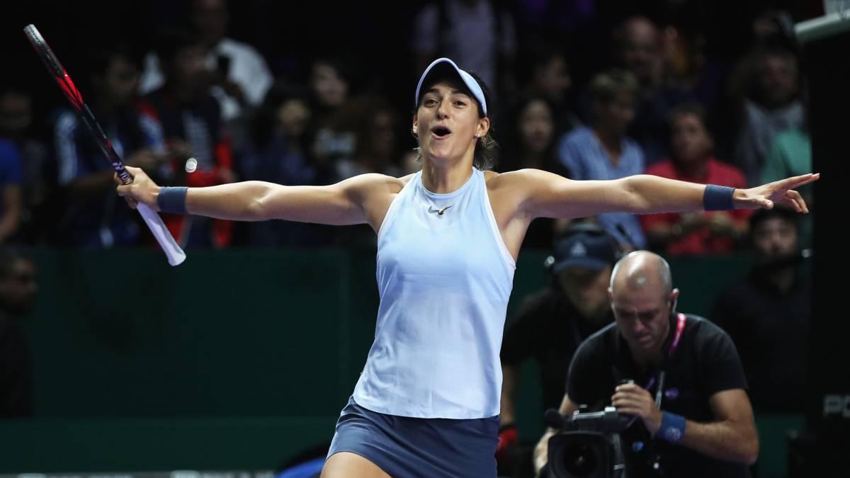 Garcia avanza a semis, Halep es eliminada — Copa WTA