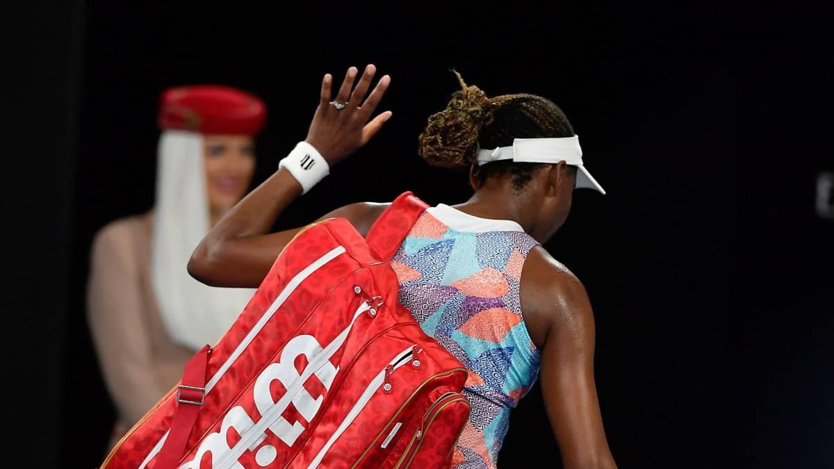 Venus Williams cae en la primera ronda del Abierto de Australia