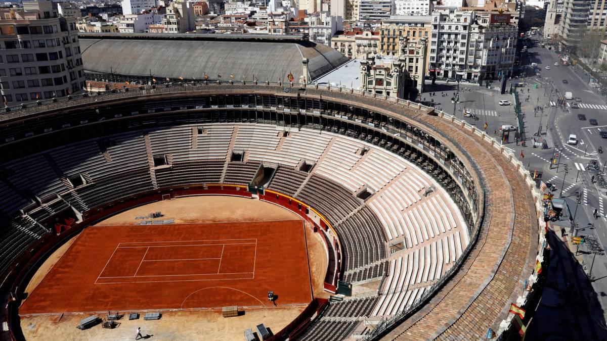 La plaza de toros de Valencia se transforma para la Davis - AS.com