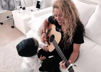 Sasha, hijo de Piqué y Shakira, sigue los pasos de su madre
