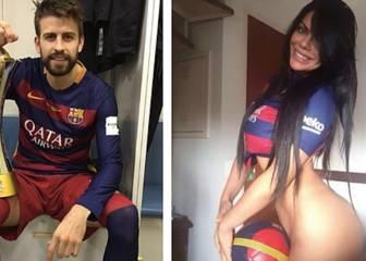'Miss Bumbum' coquetea con Piqué con otro atrevido desnudo