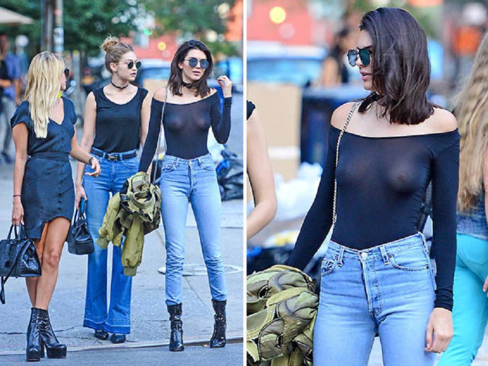Kendall jenner presume de 39 nipple piercing 39 con for Nipple piercing through shirt